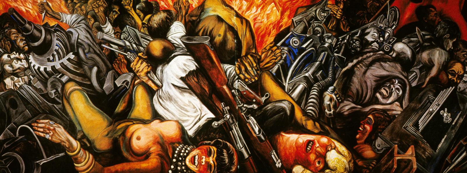 Continental drift page 4 for El hombre de fuego mural de jose clemente orozco