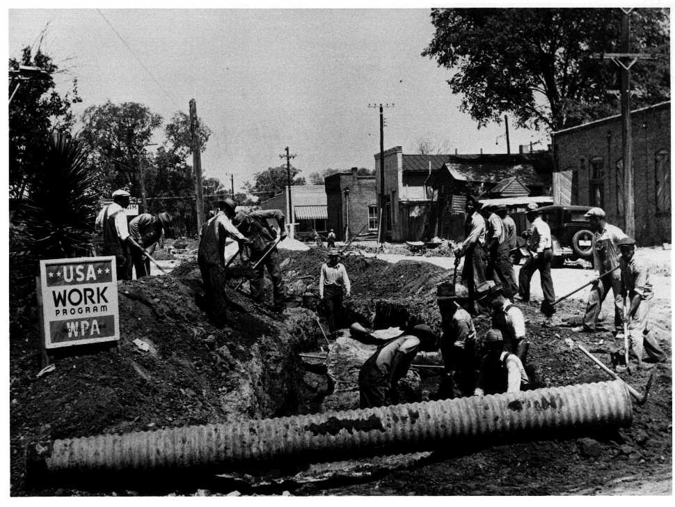 a history of the works progress administration wpa of roosevelts new deal The works progress administration (wpa renamed in 1939 as the work projects administration) was the largest and most ambitious american new deal agency, employing millions of people (mostly unskilled men) to carry out public works projects, including the construction of public buildings and roads.